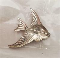 Vintage Forstner Sterling Silver Fish Pin Brooch