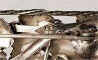 Vintage L S Sterling Grapes On Vine Pin Brooch