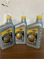 3 bottles of synthetic pennzoil motor oil