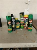Lot of insect spray