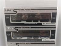 Four K-Line standard scale streamliner model