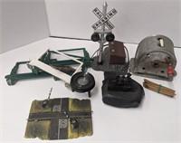 Hard coal miniature train sculpture and miniature