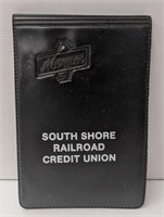 South shore railroad credit union notepad with