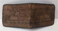 Vtg South Shore Railroad leather wallet. Inside