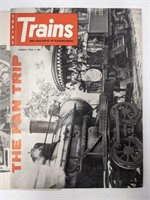 Four early editions of Trains Railroading