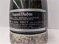 Unopened bottle of Segura Viudas sparkling wine.