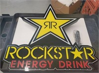 Rockstar energy drink light up sign. One of the