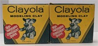 Two packs of Clayola modeling clay, 200 cream