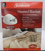 Sunbeam two sided heated blanket.