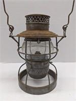 Vtg Kerosene lantern. 10in tall without handle.