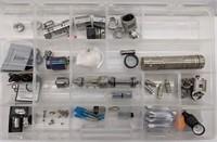 Organizer of assorted vaporizer accessories.