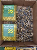 Large group of 22 long rifle, high velocity,