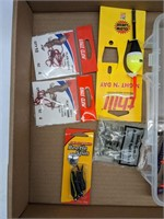 Fishing hooks, weights, lures. With adjustable