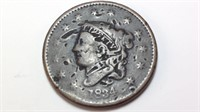 1834 large cent