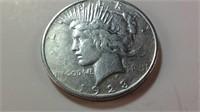 1923D US silver peace dollar