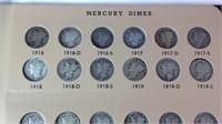 Book of Mercury dimes including 1916 D