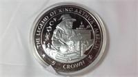 5 oz silver proof legend of King Arthur merlin