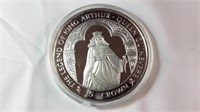 5 oz Silver proof legend of King Arthur Guinevere