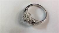 White gold ladies diamond ring