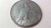 1923S US silver peace dollar