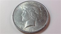 1923 US silver peace dollar