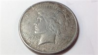 1925 US silver Peace dollar
