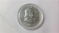 1962 Ben Franklin half dollar