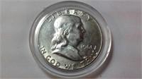 1961 Ben Franklin half dollar