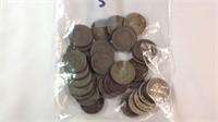 Assorted bag a lot of V Nickels