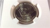 2007 Washington dollar mint error MS 64