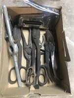 Tin Snips, Stapler and tools