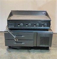 Griddle and Rolling Cabinet