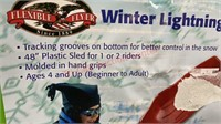 New 48 inch Plastic Sled for 1 or 2 Riders.