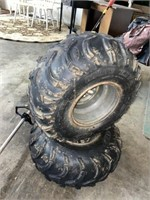 Two 25-11-10 tires