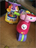 Little people kids riding toy and vtech kids