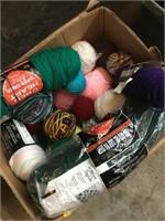 Lot of various yarn