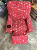 Alabama kids recliner with cup holder