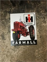 Farmall metal sign