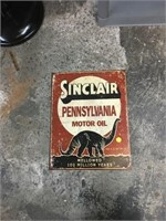 Sinclair miter oil metal sign