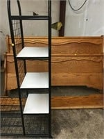 Rolling shirt and shoe rack 5'4ft and 42 wide