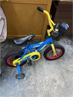 Kids hot wheels bicycle with training wheels