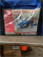 Folding sport table with 4 seats