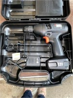 Black and decker drill with charger and case