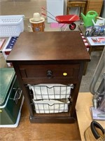 Small end table with basket drawers 15x12x28""
