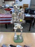 "18"" tall Skeleton statue decor"