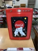"""Small Coca Cola fridge 13x12x19"""" tall"""