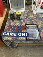 Game on metal sign and room rules metal sign