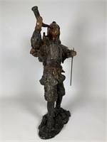 20th Century Bronze Samurai Statue