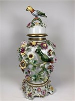 Large Dresden Porcelain lidded urn