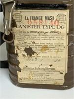 Vintage La France fire mask in case